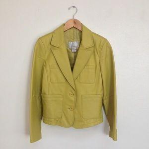Chartreuse Spiegel Leather Blazer
